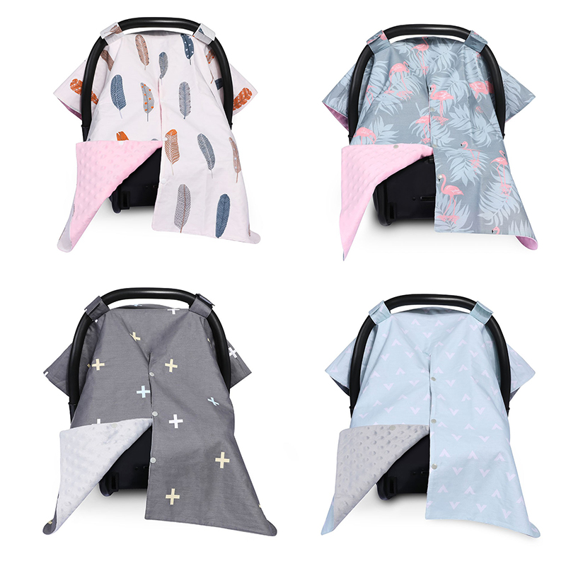 Fashion Carseat Canopy Cover Nursing Cover Breathable Baby Car