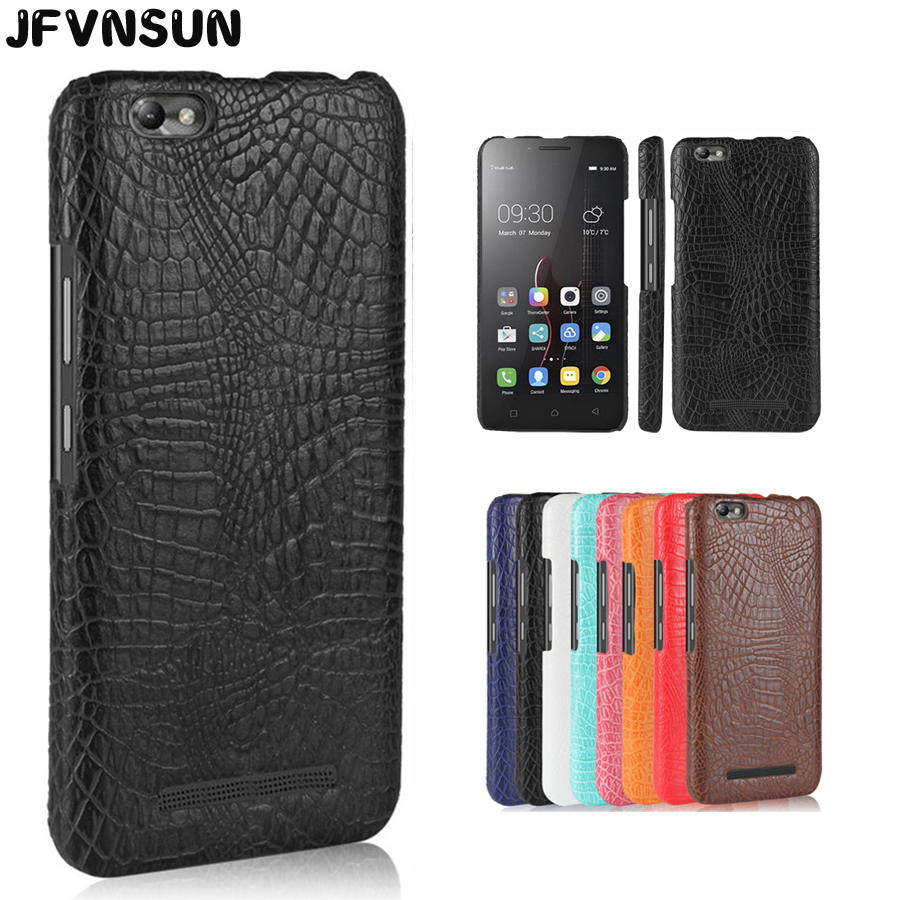 For Lenovo A2020 Case Luxury Crocodile Leather Skin Case for Lenovo Vibe C A2020 A2020a40 DS A 2020 Cover SLIM Protective Cases
