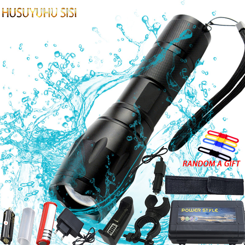 T6 10000 Lumens Adjustable Focus LED Flashlight Rechargeable Zoomable Linternas Torch Light By 1*18650 or 3*AAA Lamp Hand Light 8200 lumens flashlight 5 mode cree xm l t6 led flashlight zoomable focus torch by 1 18650 battery or 3 aaa battery
