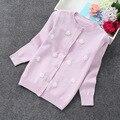2016 nuevas chaquetas de punto para niños 2-6 años los niños suéter de cachemira niñas cardigans 839
