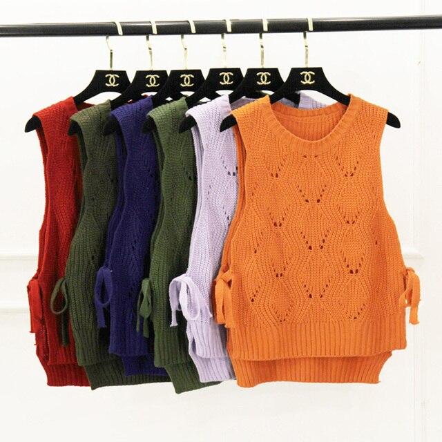 2016 Corea moda Otoño vendaje arco Jersey de punto suéter mujeres ...