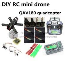Bricolage FPV mini drone QAV180 RC croix course quadcopter kit & RTF carbone pur CC3D + 1306 + BLheli 6A ESC + FLYSKY fs – i6 + iA6B