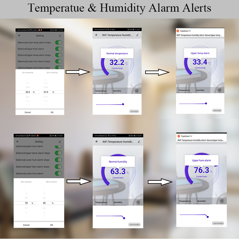 Image 4 - KONLEN Tuya WIFI Temperature Thermometer Humidity Hygrometer  Detector Alarm Sensor Smart Life App home thermostat ControllerBuilding  Automation