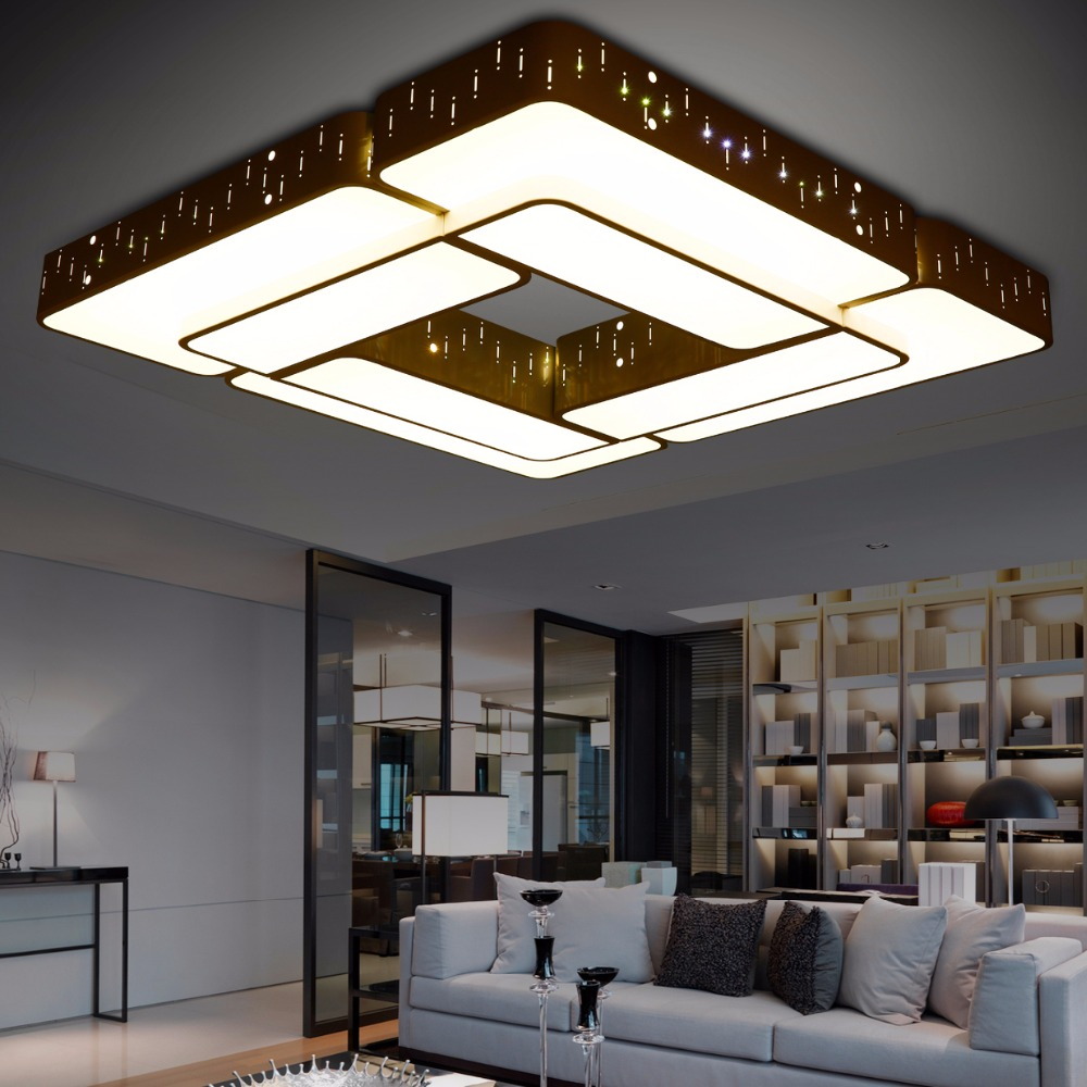 Modern ceiling lights deckenleuchten lamparas de techo for Living room overhead lighting