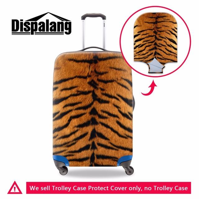 Leopardo mala de proteção anti-scratch protetor de bagagem mala de bagagem capa protetora covers spandex à prova d' água clara
