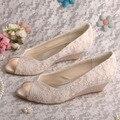 Wedopus MW407 Feminino Casamento Sapatos De Cunha Venda Peep Toe 3.5 CM Heel Dropshipping