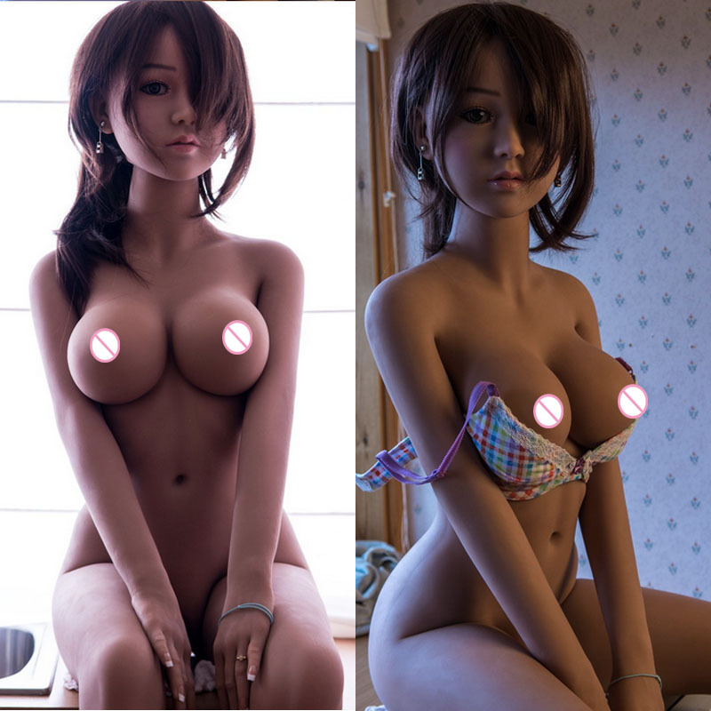 <font><b>140cm</b></font> Real <font><b>Silicone</b></font> <font><b>Sex</b></font> <font><b>Dolls</b></font> Robot Japanese Anime Full Oral Love <font><b>Doll</b></font> Realistic Adult for Men Toys Big Breast Sexy Mini Vagina image