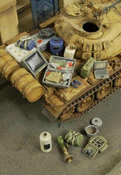 1/35 Scale Model Scene Tanks Accessories Resin Model Kit Figure Free Shipping