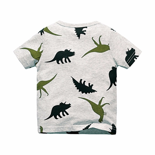 Dinosaurs Patterned T-Shirt