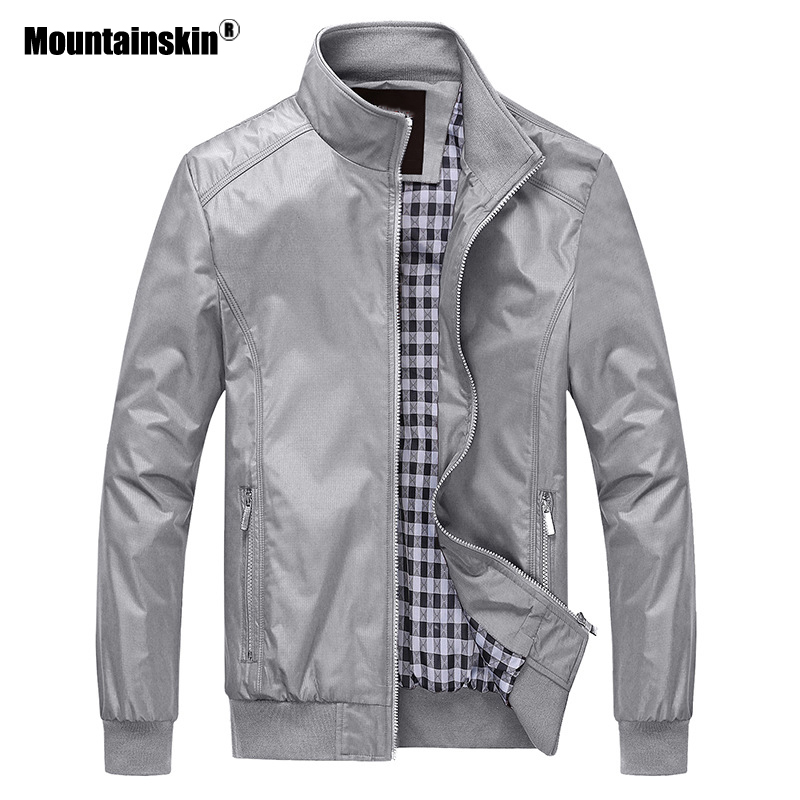 Mountainskin 2018 New Men's Jackets Autumn Casual Coats Solid Color Slim Fit Male Bomber Jacket Mens Brand Clothing 6XL SA529