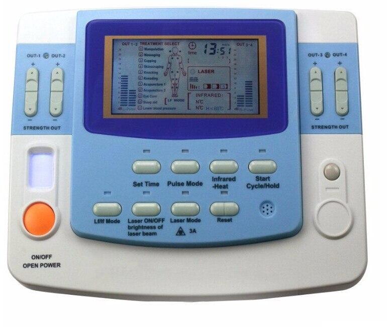 Бесплатная доставка EA-VF29 ультразвук физиотерапевтический аппарат с иглоукалывание устройства лазерной терапии
