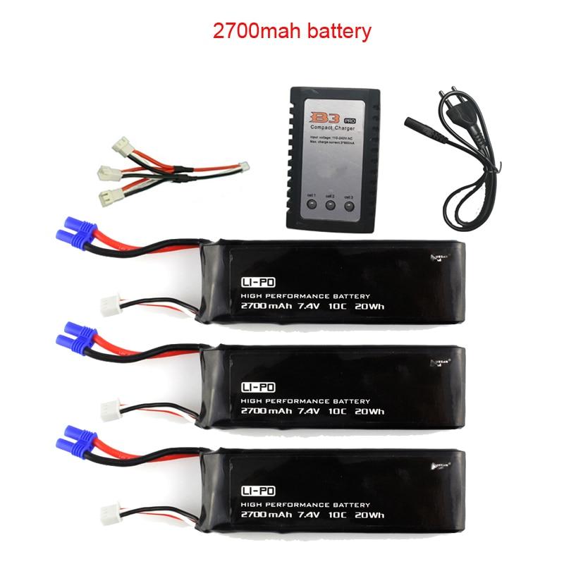US 7.4V 2700mAh Lipo Battery 10C for Hubsan H501S RC Quad Drone High-performance