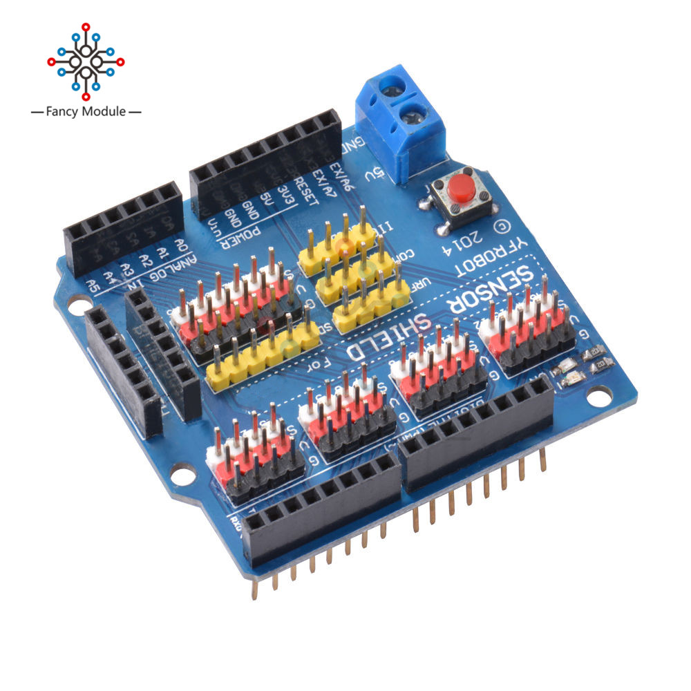 US $2 21 26% OFF|V5 Sensor Shield Expansion Board Shield For Arduino UNO R3  V5 0 Electric Module-in Instrument Parts & Accessories from Tools on