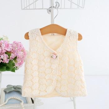 7f817d307 0-2 T primavera moda Otoño flores bordado niños abrigos de cintura niños  bebé niña ropa de abrigo bebé niñas chaleco 3 color
