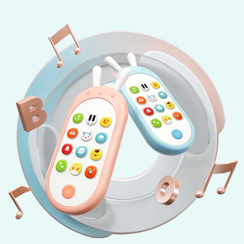Beiens Baby Toys Mobile Phone Kids Bilingual Telephone Toy Newborn Early Educational Learning Toy Phone Multifunctional Toy Gift