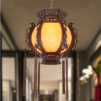 Traditional Chinese style classical lantern palace Pendant Lights Creative carved wood art lamp for corridor&porch&stairs MYR015 tradition chinese style carved wood art pendant lights retro countryside house lamp for bar