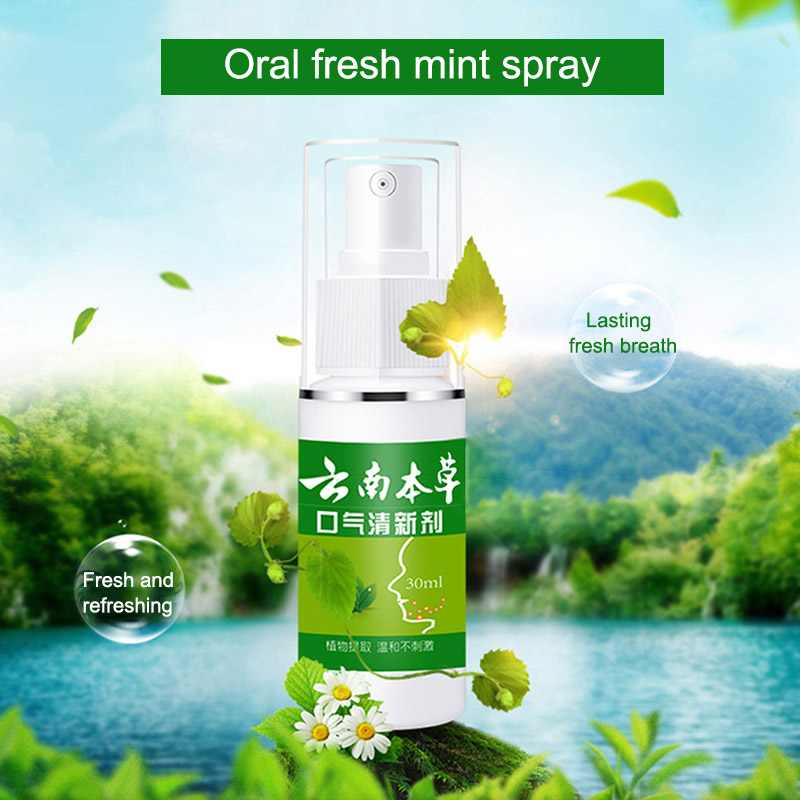 Teeth Cleaning Whitening Mint Spray Oral Deodorant Breath Freshener Improve The Breath of Mouth Oral Odor Fresh Spray Oral Care 4