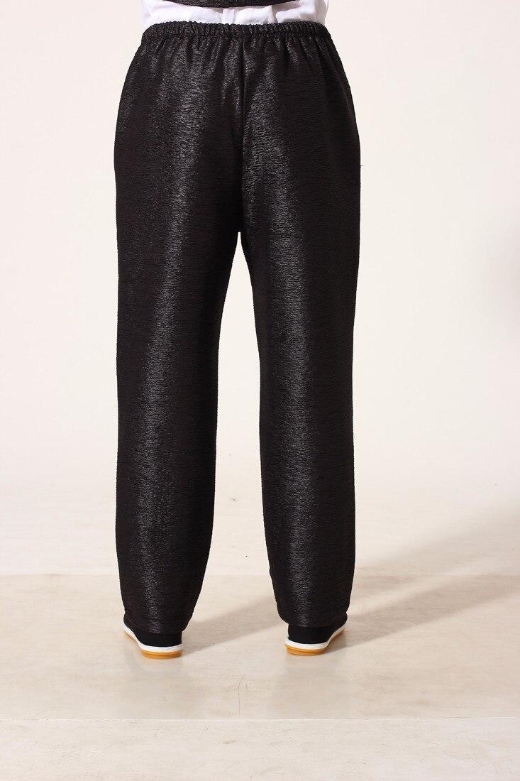 a67d8ea3b ᗗNueva llegada negro chino hombres Kung Fu Pantalones algodón ...