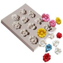 1pc花シリコーン型フォンダンモールドケーキデコレーションツールチョコレートgumpasteモールドウエディングconfeitaria型ベーキングアクセサリー