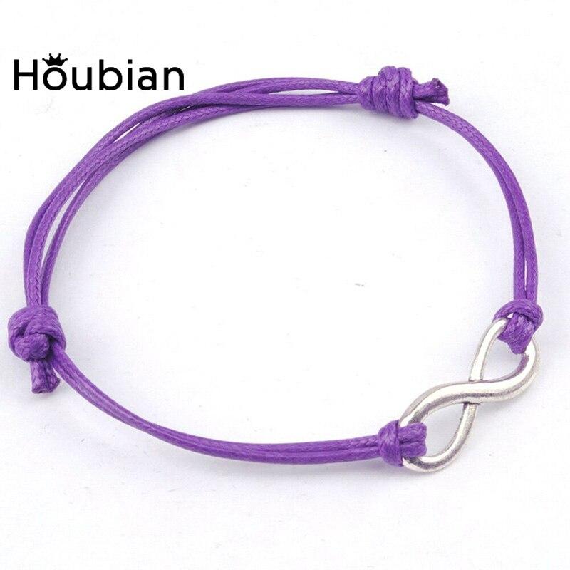 Houbian Vintage Braided Bracelet Lucky Number 8 Combination Bracelet Jewelry South Korea Wax Line Jewelry Wholesale