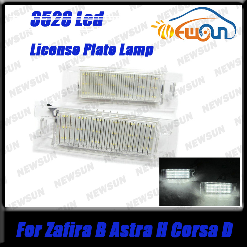 Error Free White 18SMD LED Number License Plate Light Lamp for OPEL Zafira B(05~11),Astra H(04~09,Corsa D(06~11),Insignia(08~)