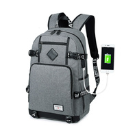 2018 Men Backpack Bag USB rechargeable high school students bag casual fashion men's shoulder bag Computer Bag Mochila macho