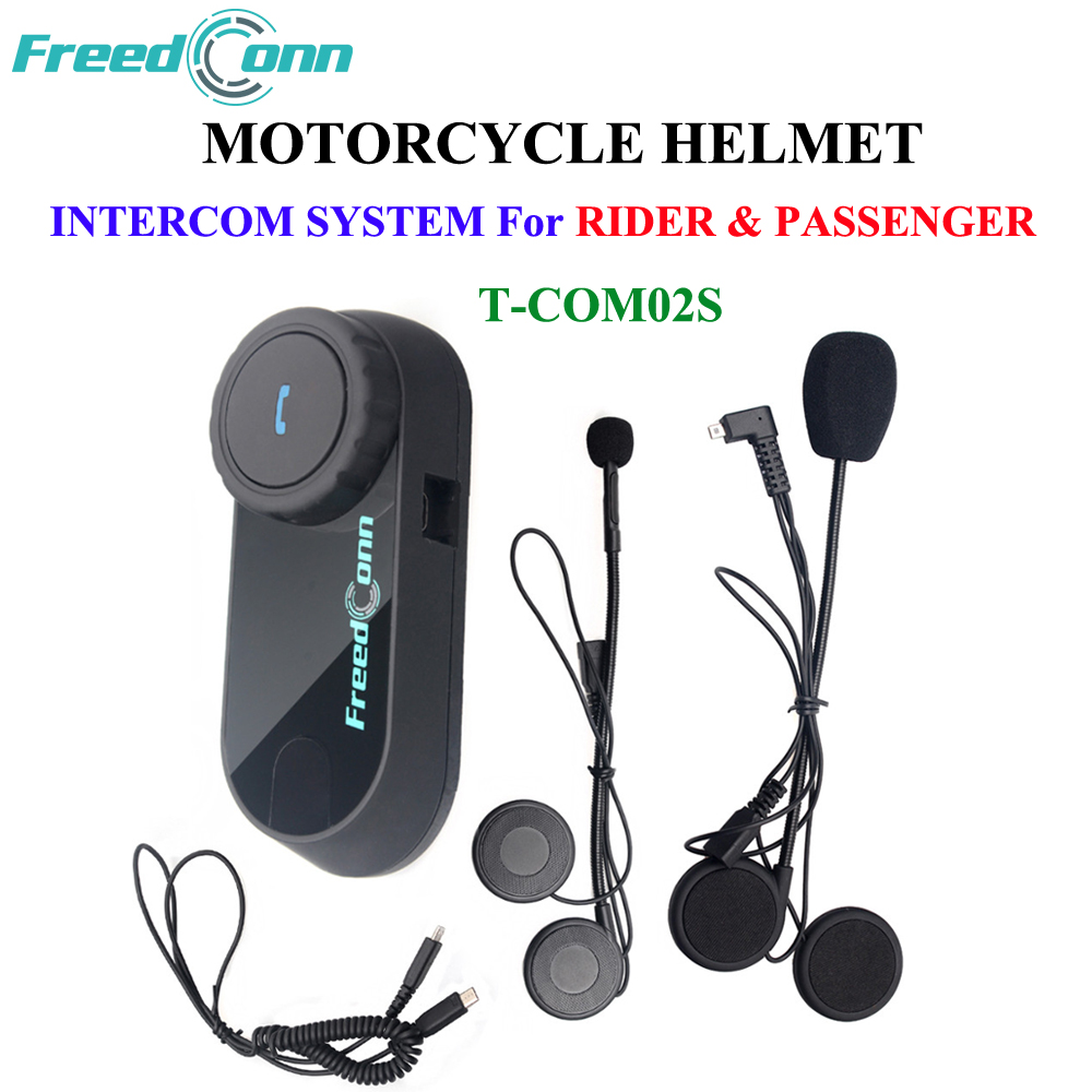 FDC Motorcycle Interphone Waterproof Bluetooth Helmet Headset for Rider and Passenger Pillion Intercom Casco Intercomunicador