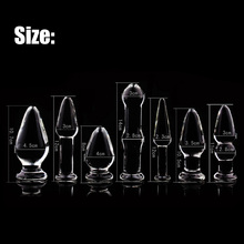 7 Size Glass Anal Dildo Butt Plug Anal Beads Erotic Sex Toy for Women Adult Products for Couples Crystal Glass Anus Massage Toys