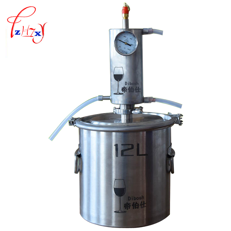 Moonshine Distiller 12L Stainless Steel  Vol Liqour Maker Brandy Whiskey Vodka Machine Fermentation Tank distiller pot/boilers fermentation technology