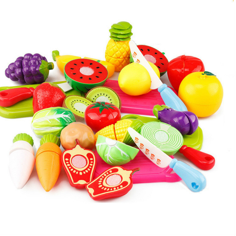 13pcs Plastic Fruit Vegetable Kitchen Cutting Toys Early Development and Education Toy for Baby Kids Girls Gift for Children 34pcs children s kitchen toys cutting fruit vegetable plastic drink food kit kat pretend play early education toy for kids