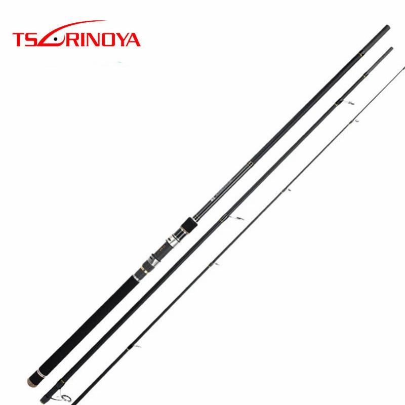 TSURINOYA Spinning Rod 3.3 m 3.6 m 3 Section Carbone canne à pêche MH Puissance FUJI Accessoires Lure Poids. 18-50g Mer Basse De Pêche S'attaquer