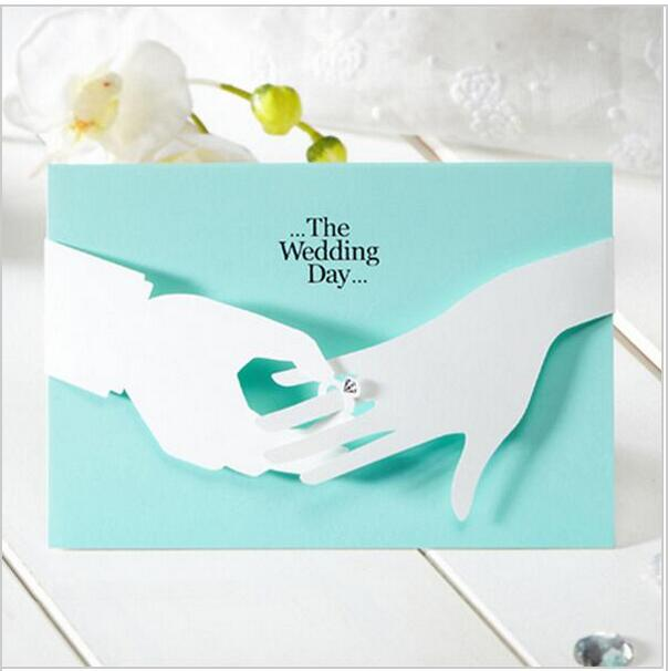 New Tiffany Blue Wedding Invitations Elegant Laser Cut Paperboard Lover  Party Romantic Inviting Cards Printable 2017