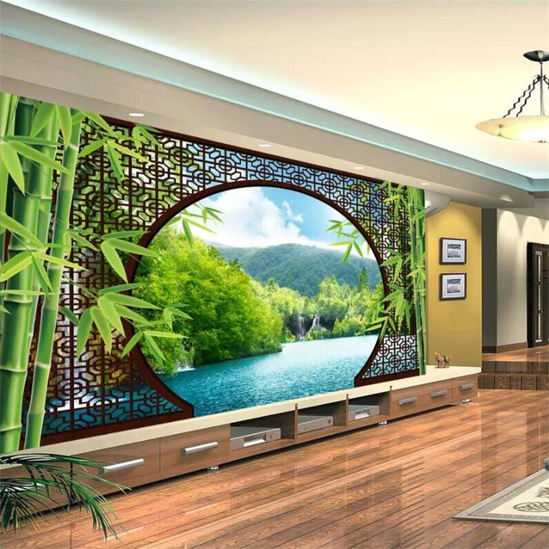 chinese dining room set high definition pics   beibehang Wallpaper custom living room bedroom mural ultra ...