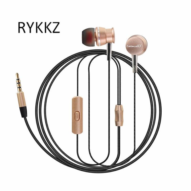 Neue subwoofer metall ohrhörer in-ear-kopfhörer fernbedienung mit weizen handy universal kopfhörer KDK303