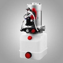 Гидравлический насос двойного действия 12v Dump Trailer-6 кварт пластиковый резервуар для прицепа-самосвала