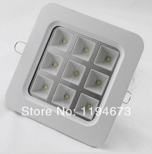 Бесплатная доставка Высокое качество квадратный 4 Вт/9 Вт встраиваемые светодиодные лампы решетка для кухни и ванной Подпушка огни AC85-265V