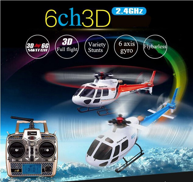 Wltoys V931 6CH Brushless Motor Flybarless with 3 Axis Gyro 3 Blade AS350 Scale remote control rc Helicopter hisky hcp60 6ch mini rc helicopter flybarless 2 4g 6 axis gyro