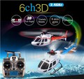 Wltoys V931 6CH Flybarless Brushless Do Motor com 3 Axis Gyro 3 Lâmina rc Helicóptero de controle remoto Escala AS350