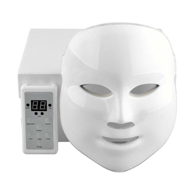 Tratamiento de fotones LED mascarilla Facial máquina para el cuidado de la cara Anti acné terapia para blanquear la piel apretada cara belleza Spa