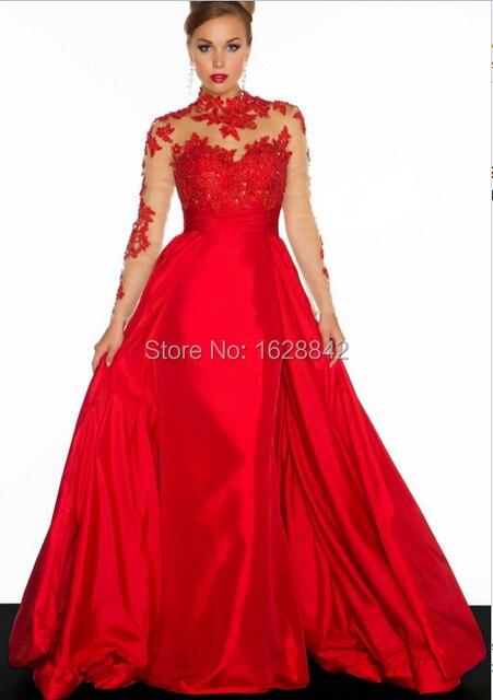 Abendkleid rot mit spitze
