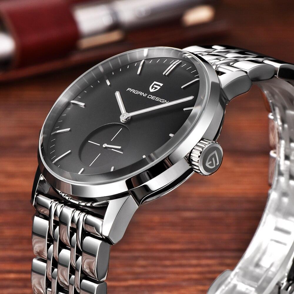 PAGANI Дизайн Элитный бренд Модные повседневное мужские часы нержавеющая сталь простой кварцевые бизнес Relogio Masculino