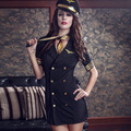 Hot Sexy lingerie game uniforms flight attendant stewardess club sex toy cosplay Temptation costumes factory sale XJ1023