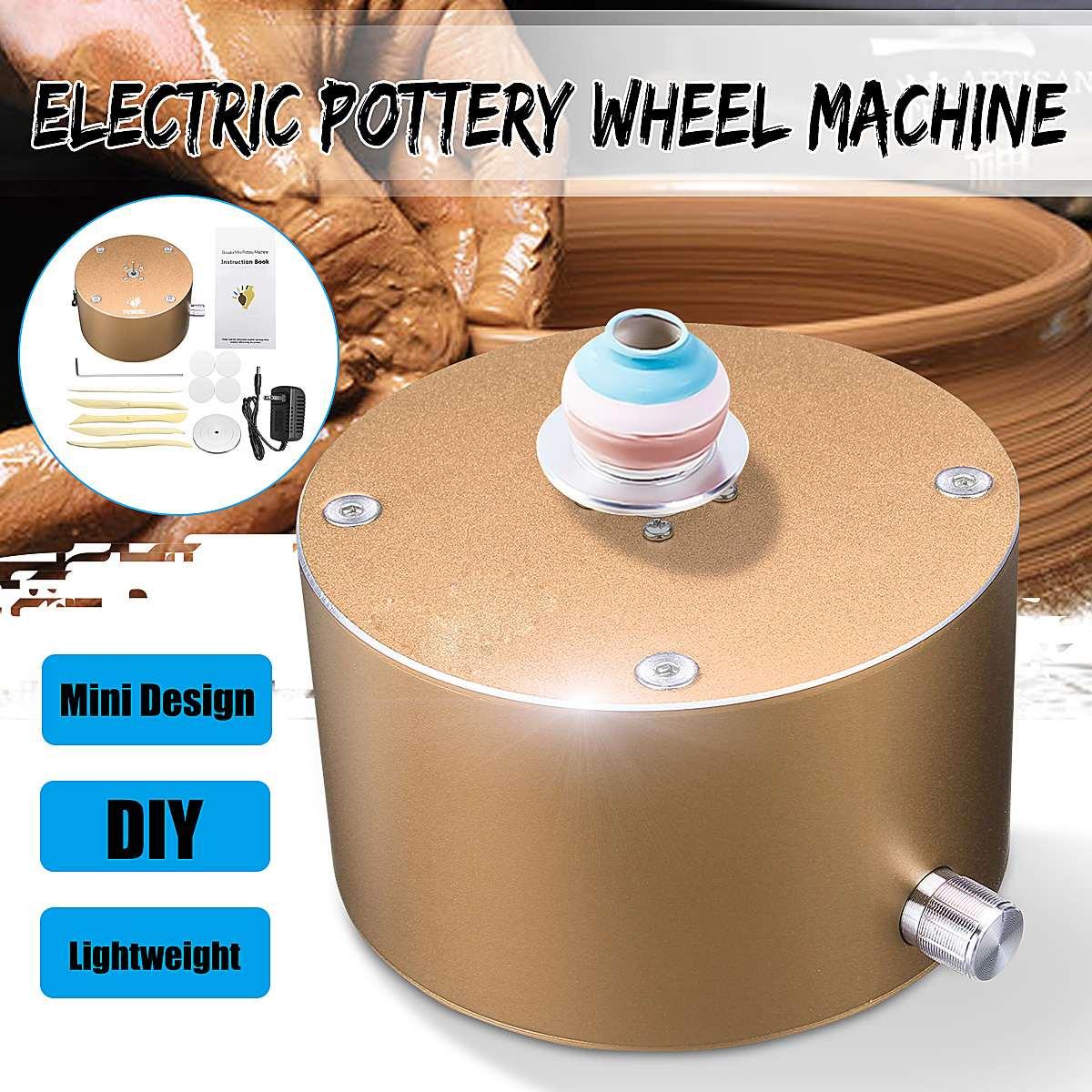 Mini poterie roue plateau tournant en céramique poterie Machine argile pour travaux pratiques outil bout du doigt poterie électrique formant la Machine artisanat