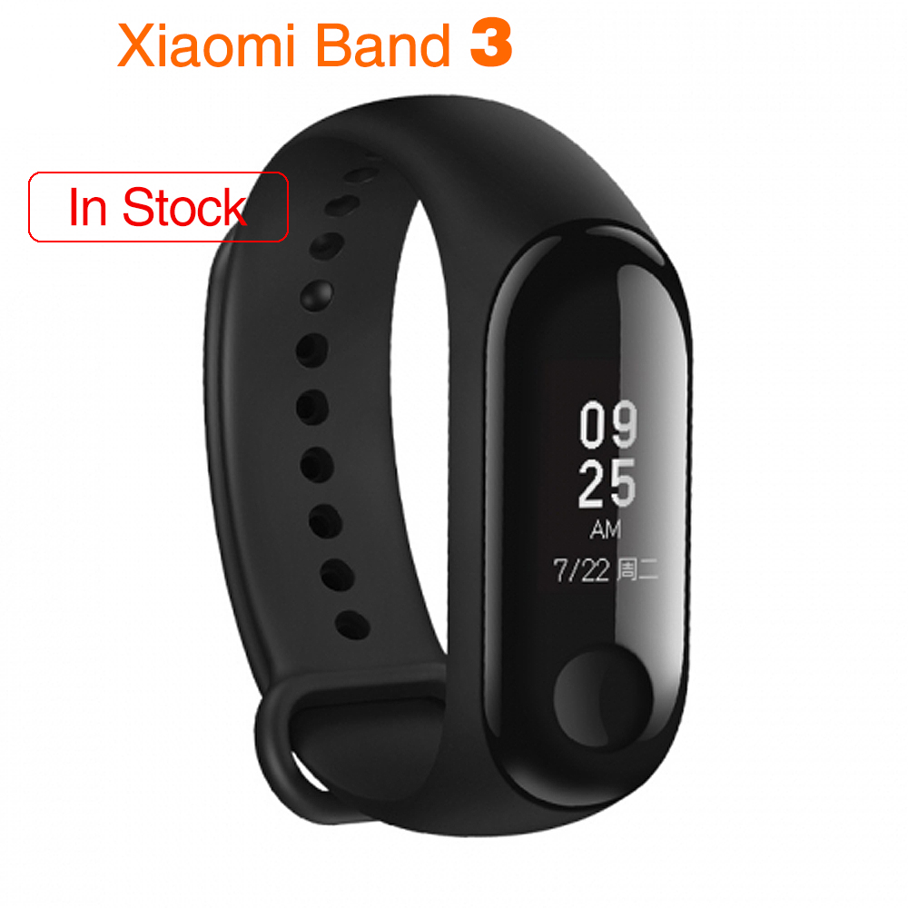 Original Xiaomi Mi Band 3 Smart Wristband Fitness Bracelet MiBand Band 3 Big Touch Screen OLED Message Heart Rate Time Smartband 2018 m3 smart bracelet fitness women bracelet miband 3 large touch screen oled information heart rate time smart sport watch men