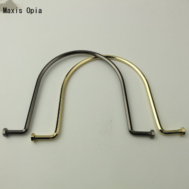 (6 pieces/lot) Gold Bag Handle Hardware Accessories Metal Purse Handle Frame DIY Handbag obag Accessories U Shape Bag Handle
