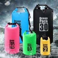 SZX 5L/10L/15L/20L открытый Портативный Дайвинг рафтинг водонепроницаемая сумка мешок ПВХ Водонепроницаемый складная сумка для хранения плавател...