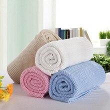Одеяло для новорожденного из хлопка для малышей постельные принадлежности одеяло пеленки для новорожденного