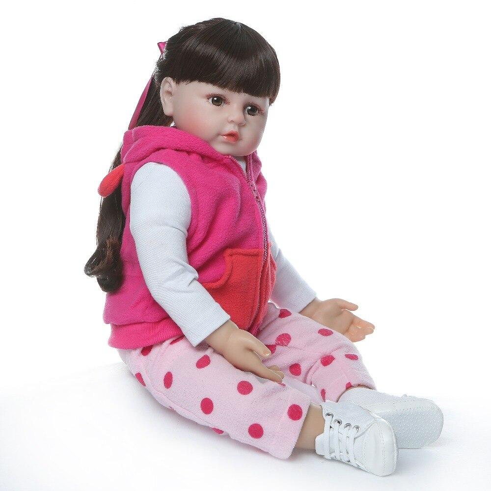 Image 3 - NPKCOLLECTION 48cm boneca reborn silicone reborn baby dolls com corpo de silicone menina baby dolls kids birthday Christmas gift-in Dolls from Toys & Hobbies