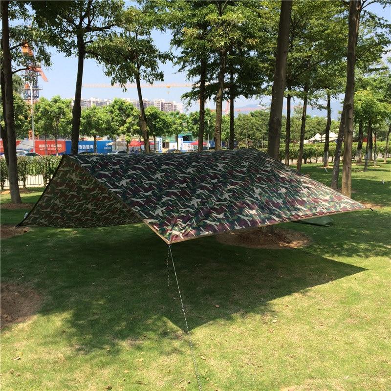 Ultralight Camping Tarp Sun Shelter Tent Stort Rian Car Presenning Vattentät Skydd Awning Sun Shade Nylon Camouflage Tarps