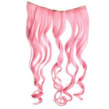 Клип в на длинные вьющиеся розовый градиент волос синтетического волокна парики